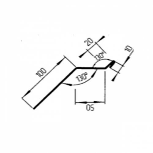 Карнизная планка, Р-180 мм